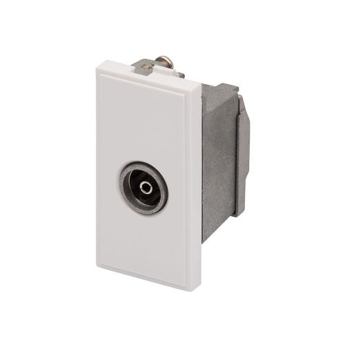 RT TV Female Outlet  (25mmX50mm) White 09002